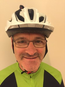 Cycle helmet, check. Early 'tache growth, Check. Paul Flurry is shaping up well for his Movember challenge.