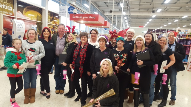 Plymouth Military Wives fundraising at Tescos